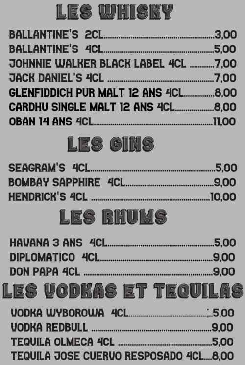 Les Alcools Et Digestifs