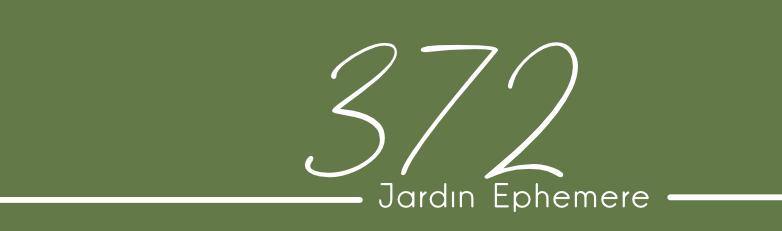 Les Cartes du 372 jardin ephemere